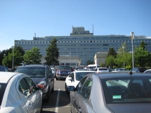 Sea of cars at VA.