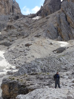 Yes, I came down this scree slope!