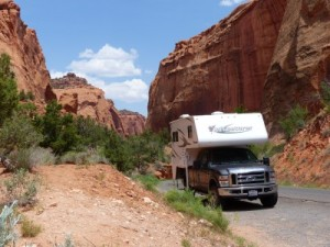 The Great White Whale dwarfed by Capitol Reef NatL Pk.