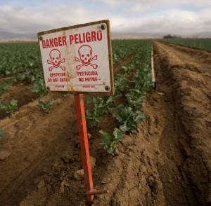 pesticide danger sign
