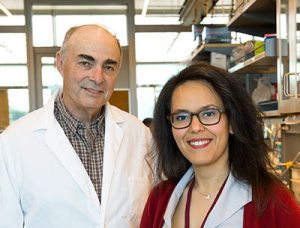Joe Harding, WSU Physiology and Neuroscience Prof, and Leen Kawas, M3 Biotechnology CEO. Credit: WSU